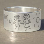 Ring met kindertekening